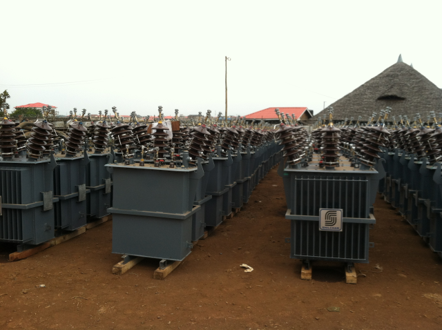 New transformers awaiting installation